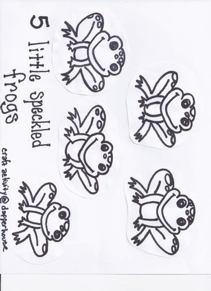 five speckled frogs coloring page speckled frogs coloring pages