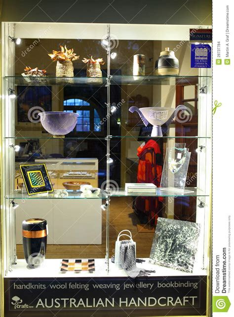 Handcraft Store - australian handcraft store window display editorial stock