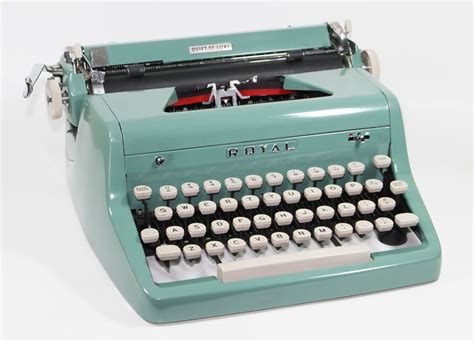 vintage royal quiet deluxe manual typewriter sea by brooklynretro
