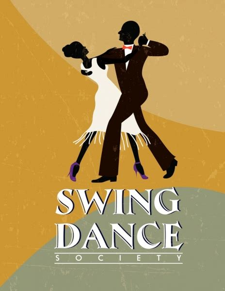 swing dance love songs swing dance advertisement dancers icon silhouette retro