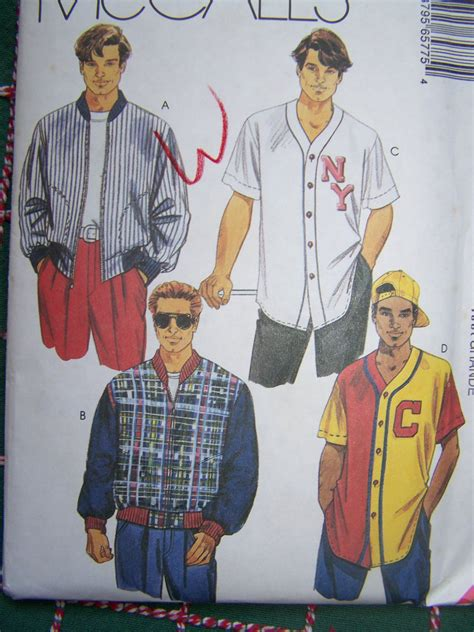 baseball jersey pattern sew uncut mens xxxl athletic jacket baseball shirt mccalls