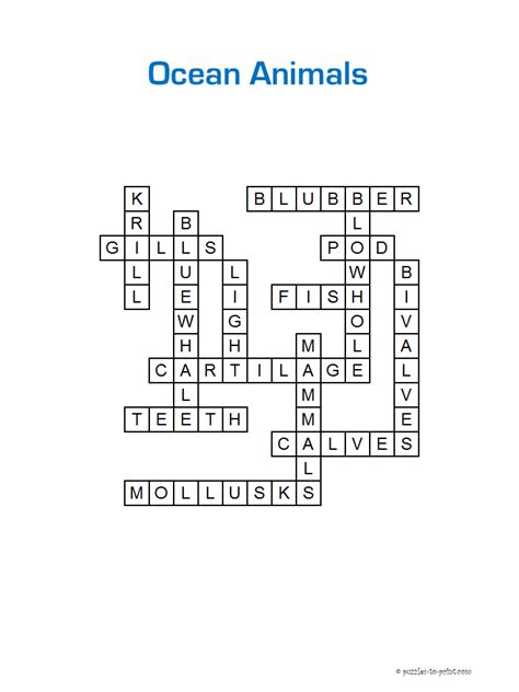 printable ocean puzzles fun solar system crossword answers pics about space