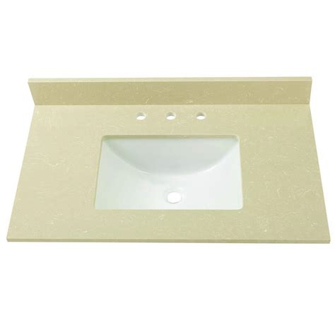 Limestone Vanity Top home decorators collection 37 in w engineered marble