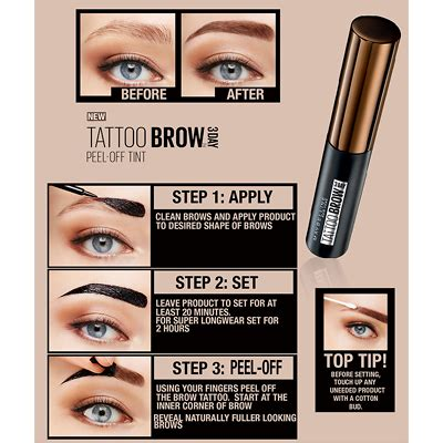 Maybelline Fashion Brow Ultra Fluffy maybelline tatoo brow easy peel tint 4 9ml feelunique