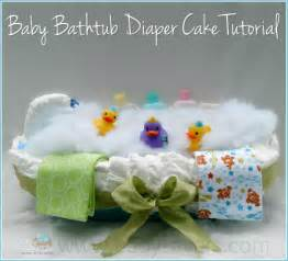how to make a baby bathtub diaper cake tutorial