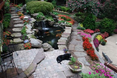 patio koi pond natural inspiration koi pond design ideas for a rich and
