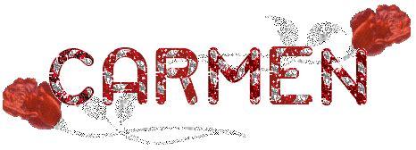 imagenes de el nombre carmen carmen nombres animados firmas animadas
