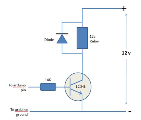 triggering a 12 v relay with an arduino electrical