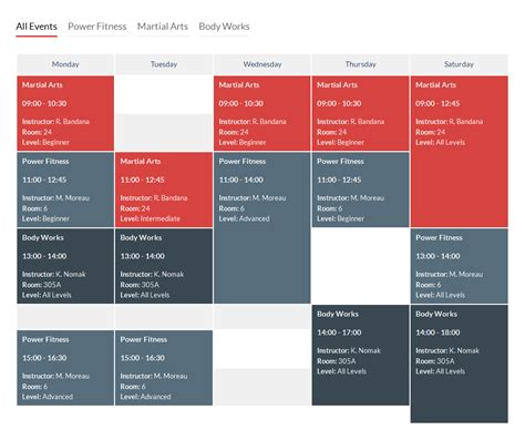 Free Room Design Planner timetable responsive schedule for wordpress by