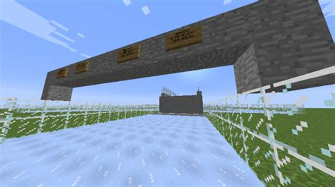 minecraft boat track 1 9 ice boat race track minecraft project