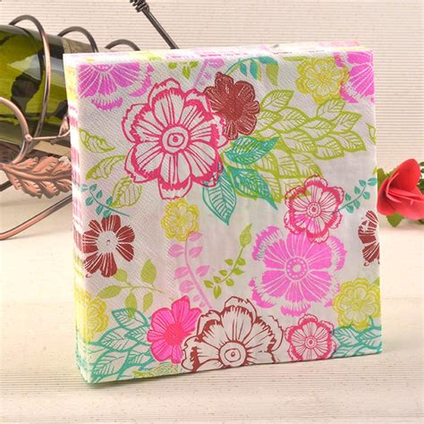 Patterned Tissue Paper Decoupage - new food grade napkins paper tissue decoupage vintage