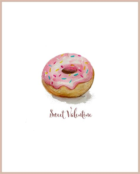 printable donut recipes free watercolor doughnut printable s