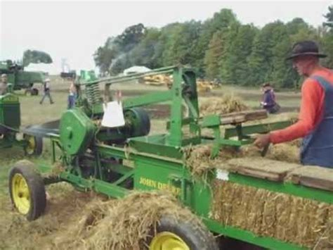 john deere hay pressat  international plowing match  youtube