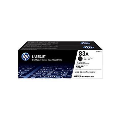 Toner Hp 83a hp 83a black toner cartridges cf283ad pack of 2 by office