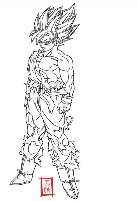best dragon ball z coloring pages goku super saiyan 5