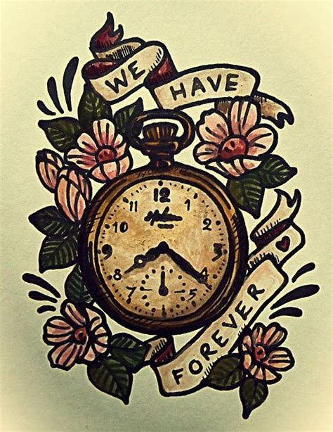 old pocket watch tattoo designs pocket illustration vintage design