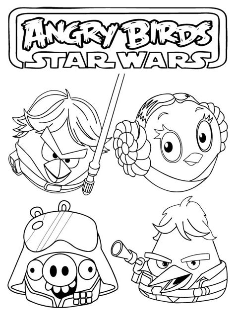 coloring page angry birds star wars angry birds star wars coloring pages coloring pages