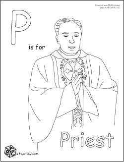 catholic alphabet coloring pages priest catholic kids coloring pages pinterest priest