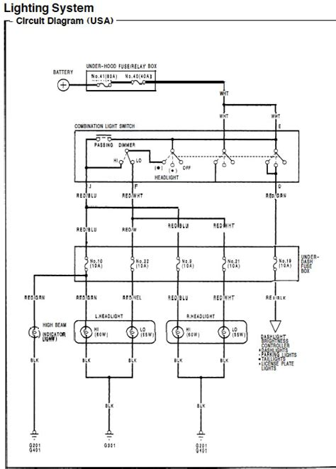 ceiling light wiring diagram 2000 honda civic ceiling
