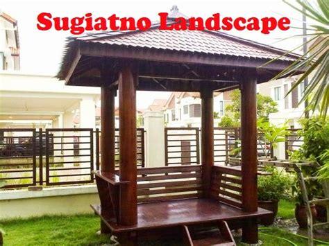desain saung gazebo saung bambu saung kayu kelapa