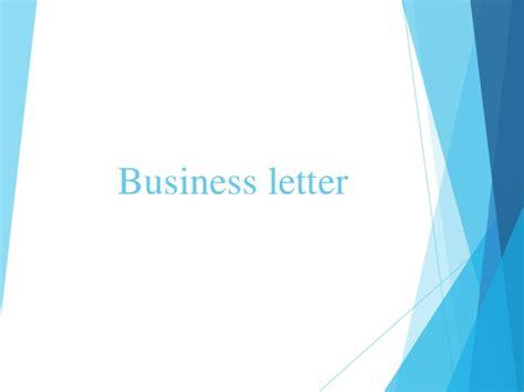business letters slideshare business letter
