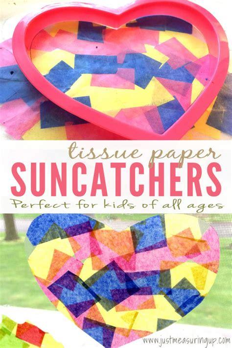 Tissue Paper Suncatcher Craft - how to make tissue paper suncatchers easy crafts