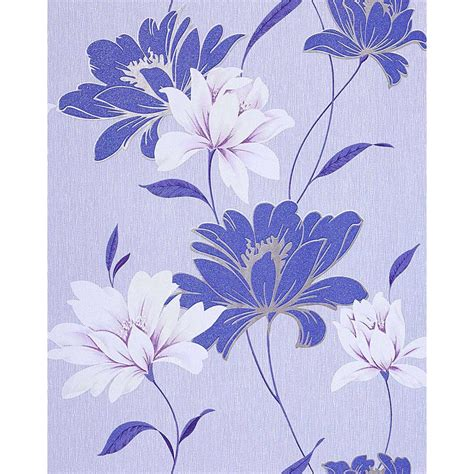 vinyl wallpaper wall floral edem   flowers texured