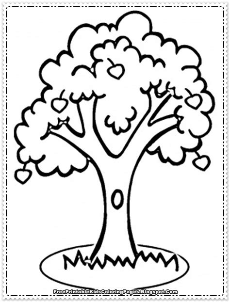 coloring page of a apple tree apple fruit coloring pages printable free printable kids