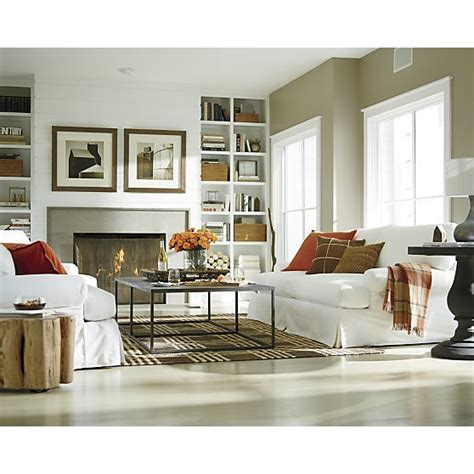 the barrel room 385 photos ellyson slipcovered sofa crate and barrel dream home