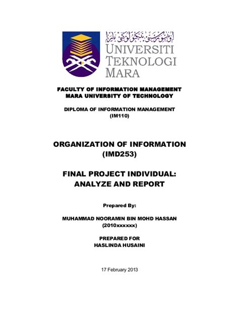 format proposal uitm contoh assignment uitm job seeker