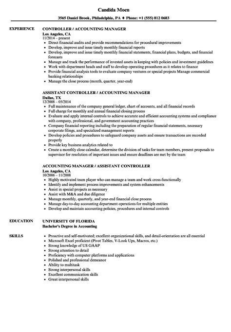 Resume Template Accounting Manager magnificent exle resume accounting year experience