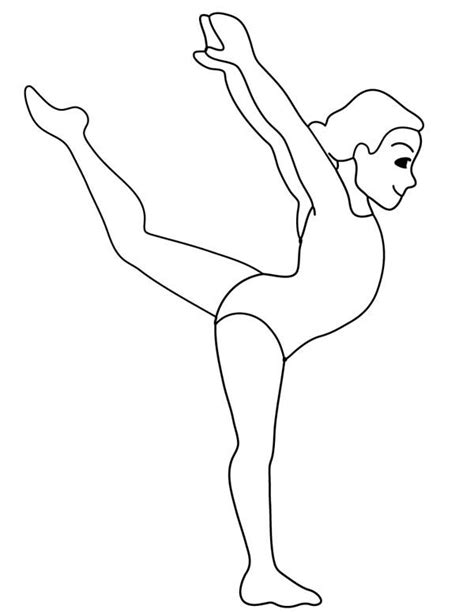 Gymnastics Colouring Pages Gymnastic Woman Gymnastic Coloring Page Coloring by Gymnastics Colouring Pages