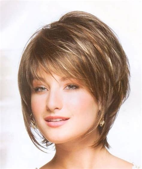 hairstyles for thinning hair over 55 high forehead short layered bob haircuts short choppy layered bob