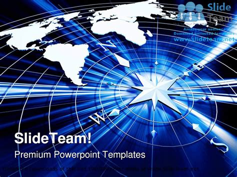 sle ppt templates for technical presentation compass with world map technology powerpoint templates