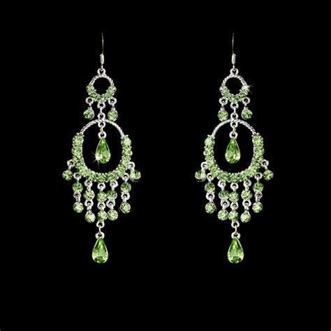 Green Chandelier Earrings Chandelier Earring E 801 Green