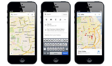 google images on iphone google maps for iphone updated with faster local search