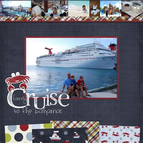 Scrapbook Layout Ideas Cruise | scrapbook pages cruise google search scrapbooking
