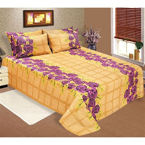 cotton bed sheets yellow rs cotton bedsheets online shopping