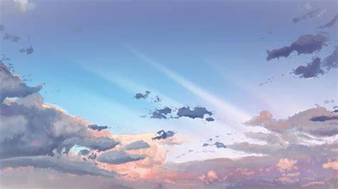 bulut mavi goek anime hd duvar kagidi indir