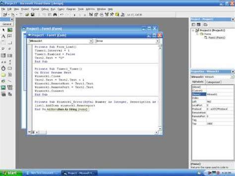 youtube tutorial visual basic 6 0 visual basic 6 0 tutorial port scanner youtube