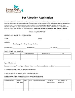 printable animal adoption forms pet adoption certificate forms and templates fillable