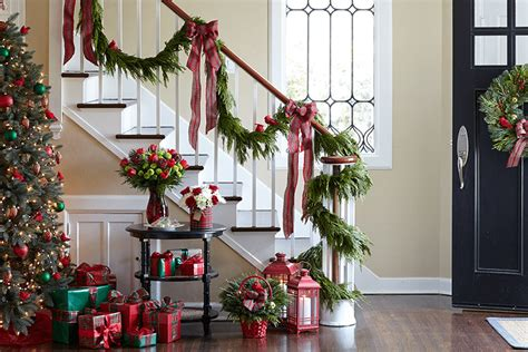 christmas garland on banister how to hang garland step by step guide proflowers blog