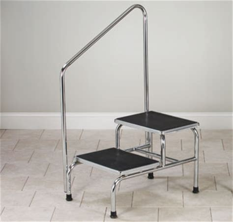 Bariatric Step Stool With Handrail Medical Step Stools Foot Stools