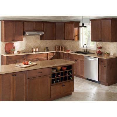 home depot cognac cabinets hton bay 30x36x12 in shaker wall cabinet in cognac
