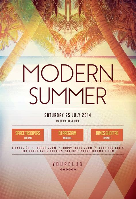 contemporary flyer design modern summer flyer by stylewish buy psd file 9