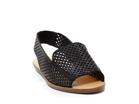 Perforated Sling Back Flats dolce vita open toe perforated slingback flat sandals
