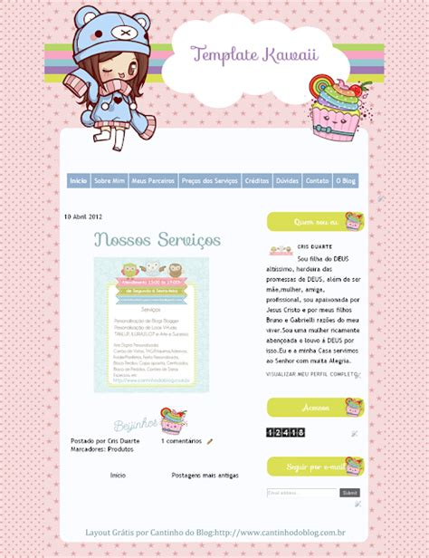 template gr tis soft cantinho do blog template gr 225 tis kawaii cute cantinho do blog