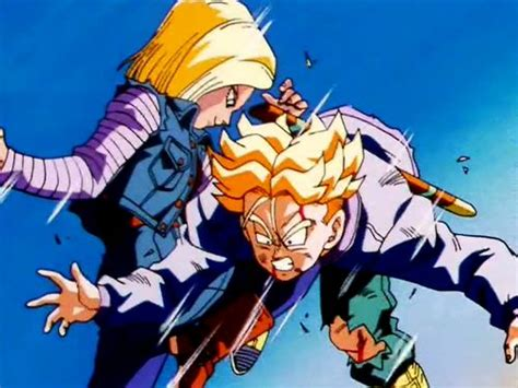 trunks vs androids android 18 vs trunks the best z pics