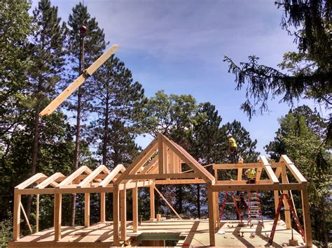 Home Design Plans Utah by Timber Frame Raising Ewp Cabin Blue Ox Timber Frames