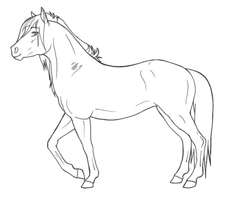horse templates for photoshop mare lineart free use by janaita on deviantart
